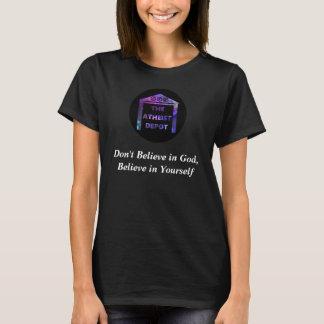 Camiseta Não acredite no t-shirt das mulheres do deus