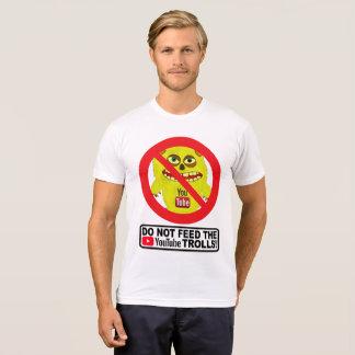 Camiseta NÃO ALIMENTE aos TROLL de YOUTUBE o t-shirt de |