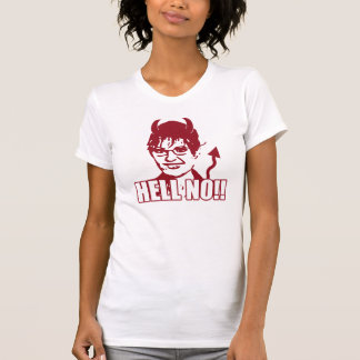 Camiseta Não!! Anti T de Sarah Palin