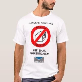 Camiseta Não autêntico, nenhuma entrada 2; Texto preto