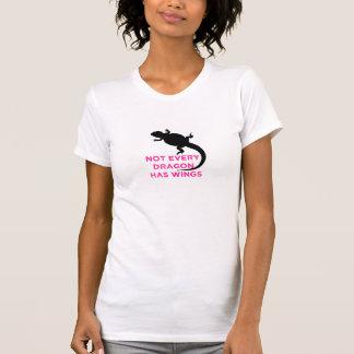 Camiseta Não cada dragão tem as asas - rosa