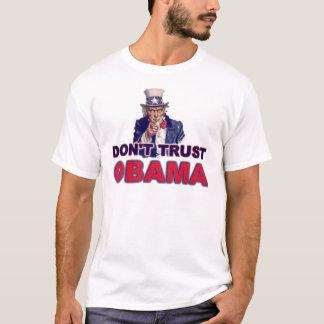 Camiseta Não confie Obama