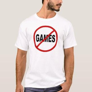 Camiseta Não deie os jogos/nenhum jogo permitidos a