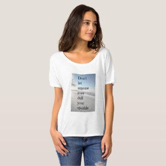Camiseta Não deixe qualquer um tornam mais fraco nunca seu