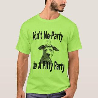 Camiseta Não é nenhum partido como um partido de Pitty