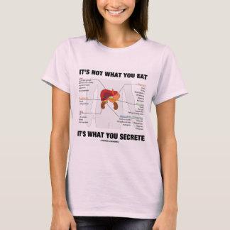 Camiseta Não é o que você o come é o que você segrega