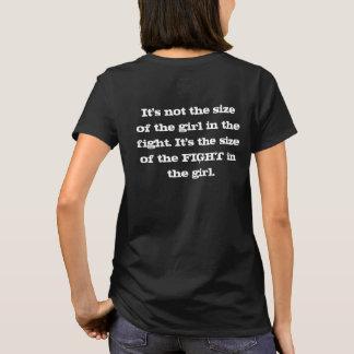 Camiseta Não é o tamanho da menina na luta - T
