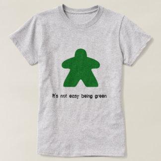 Camiseta Não é ser fácil t-shirt verde de Meeple