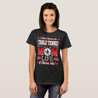 Camiseta Não escolheu a vida onde da mamã do ténis de mesa
