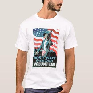Camiseta Não espere o esboço - ofereça-se (US02093)