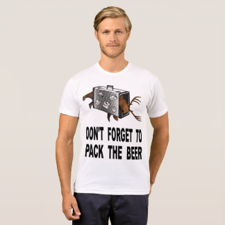 Camiseta Não esqueça embalar a cerveja