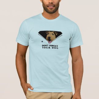 """Camiseta """"Não esqueça seu cão """""""