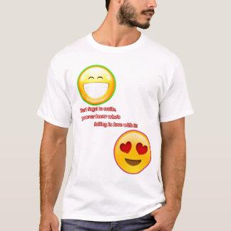 Camiseta Não esqueça sorrir