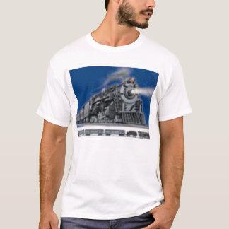 Camiseta Não esteja nas trilhas quando o trem está vindo