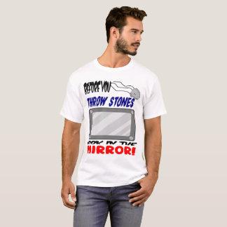 Camiseta Não jogue pedras