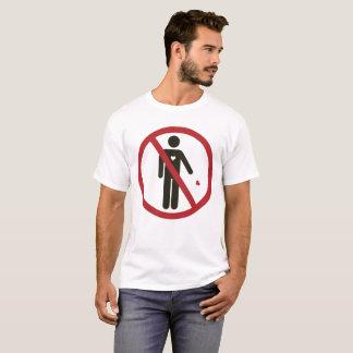 Camiseta Não jogue seu coração, não jogam seus sentimentos