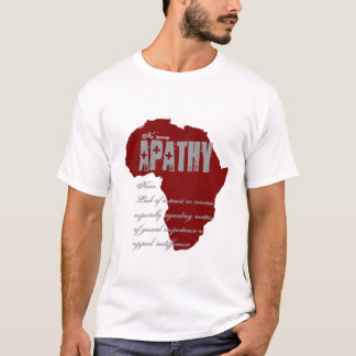 Camiseta Não mais apatia - Tshirt da consciência dos