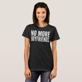 Camiseta Não mais t-shirt da tipografia dos namorados