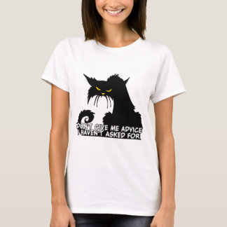 Camiseta Não me dê o conselho dizer irritado do gato