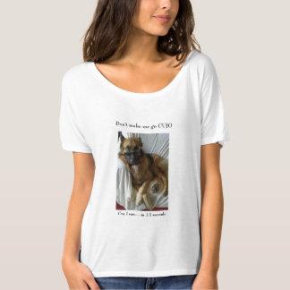 Camiseta Não me faça ir o cão de german shepherd GSD de
