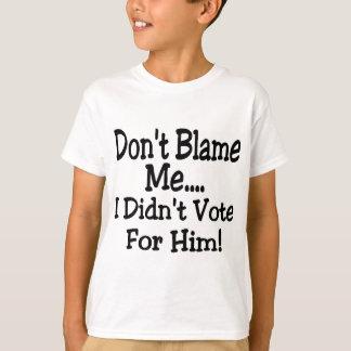 Camiseta não me responsabilize