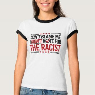 Camiseta Não me responsabilize que eu não votei para o