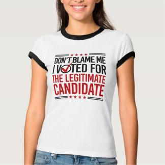 Camiseta Não me responsabilize que eu votei para o Candidat