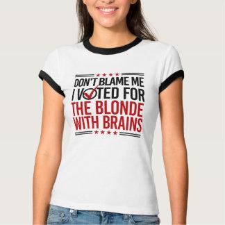 Camiseta Não me responsabilize que eu votei para o louro
