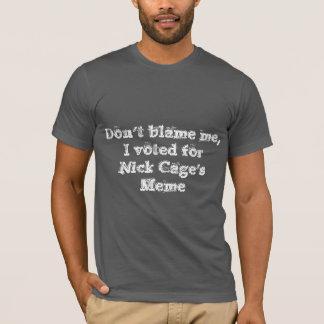 Camiseta Não me responsabilize que eu votei para o TShirt