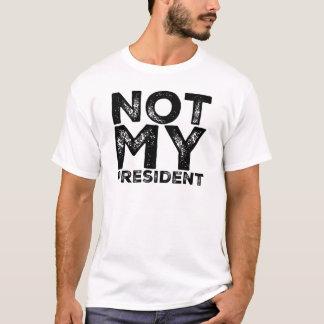 Camiseta Não meu presidente Cru Estêncil Preto Protesto