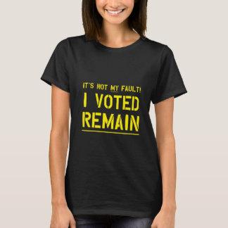 Camiseta Não minha falha (amarelo)