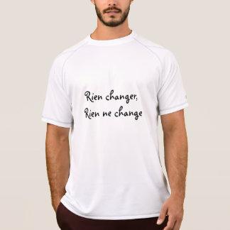 Camiseta Não mude nada, nada muda