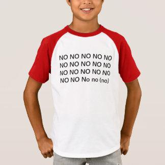 Camiseta não não nenhum