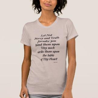 Camiseta Não o compaixão e a verdade deixados Forsake o