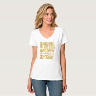 Camiseta Não obstante, persistiu (o ouro)