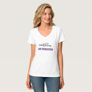 Camiseta Não obstante, persistiu o T das mulheres