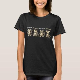 Camiseta Não ouça nenhum mau não ter nenhum t-shirt do