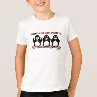 Camiseta Não ouça nenhum pinguim mau