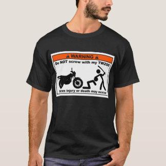 Camiseta Não parafuse com minhas cores TW200 escuras