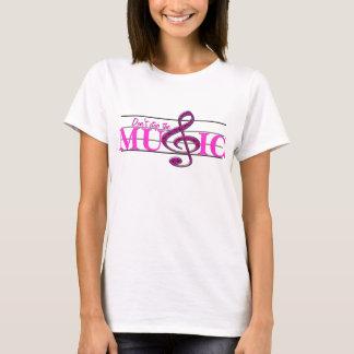 Camiseta Não pare o t-shirt das senhoras do acento do rosa