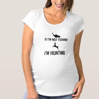 Camiseta Não pescando então a caça
