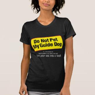 Camiseta Não pet meu cão de guia!