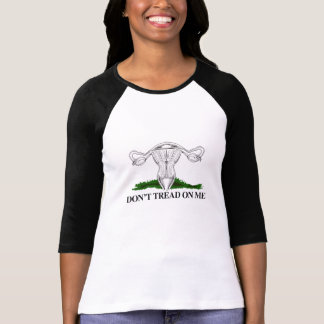Camiseta Não pise em meu útero - transparente -