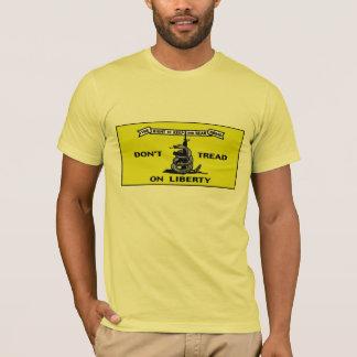 Camiseta Não pise no protesto patriótico da liberdade