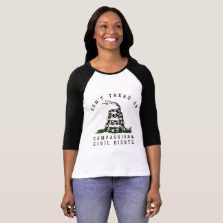 Camiseta Não pise no t-shirt das mulheres do cobra dos