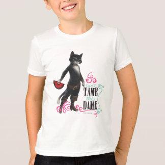 Camiseta Não pode domesticar esta dama (a cor)