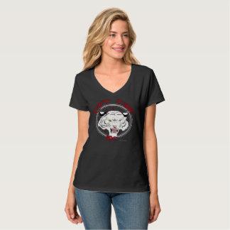 Camiseta Não pode domesticar o t-shirt Nano do V-Pescoço