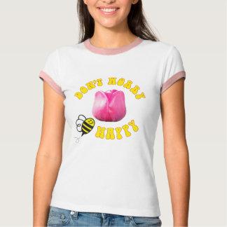 Camiseta Não preocupe a tulipa feliz de Barcelona do 🐝 da