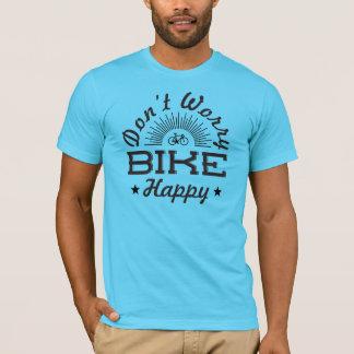 Camiseta Não preocupe o t-shirt feliz da bicicleta