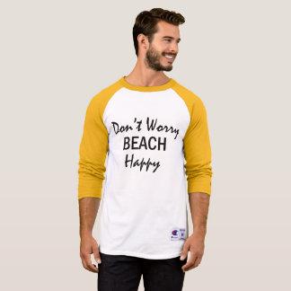 Camiseta Não preocupe o Tshirt feliz da praia do verão da